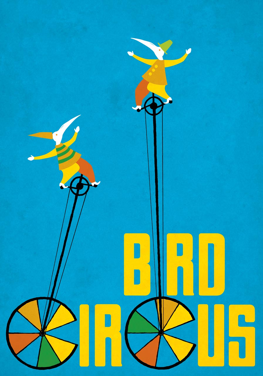 Bird Circus Unicyclists