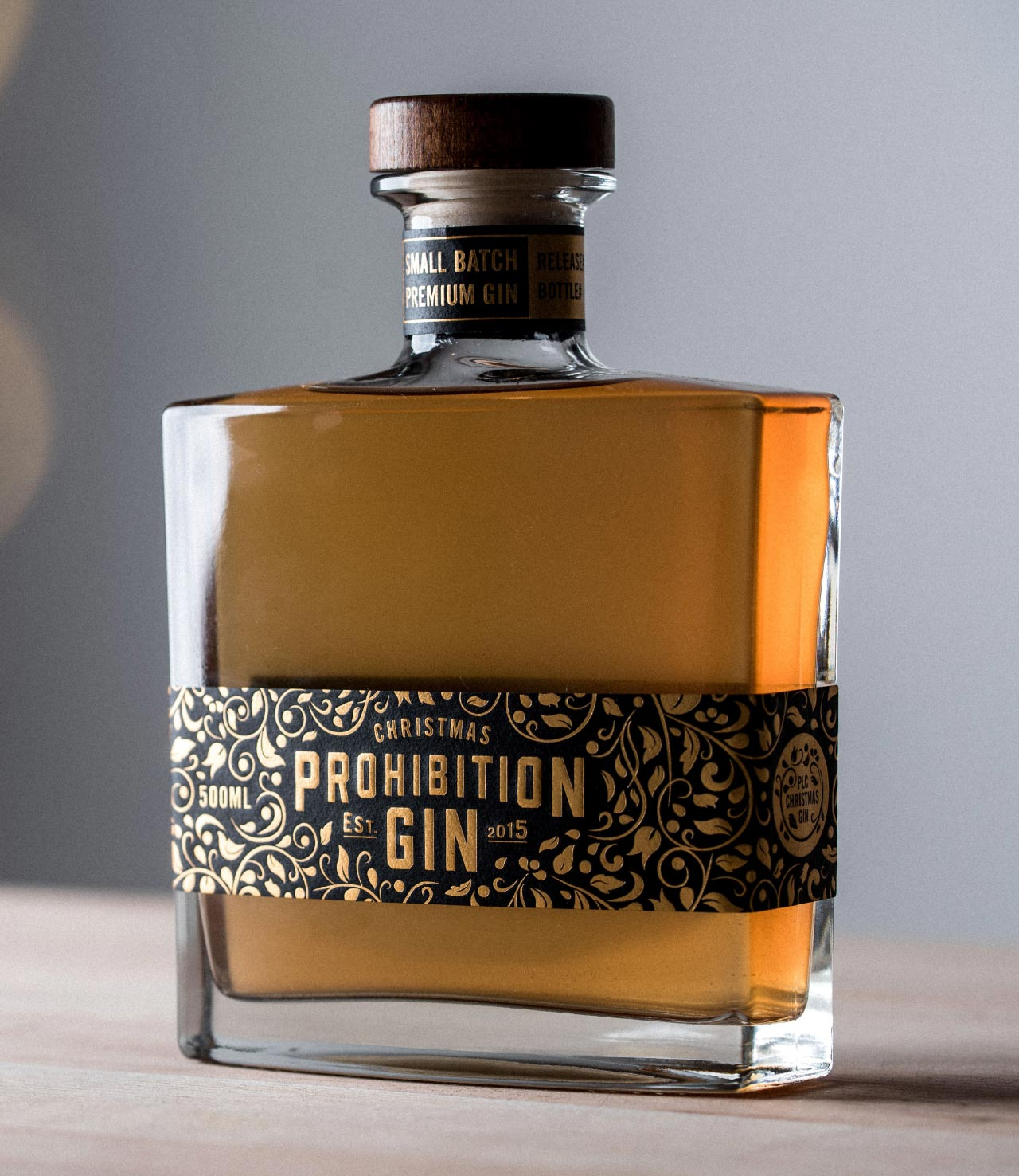 Prohibition Christmas Gin label