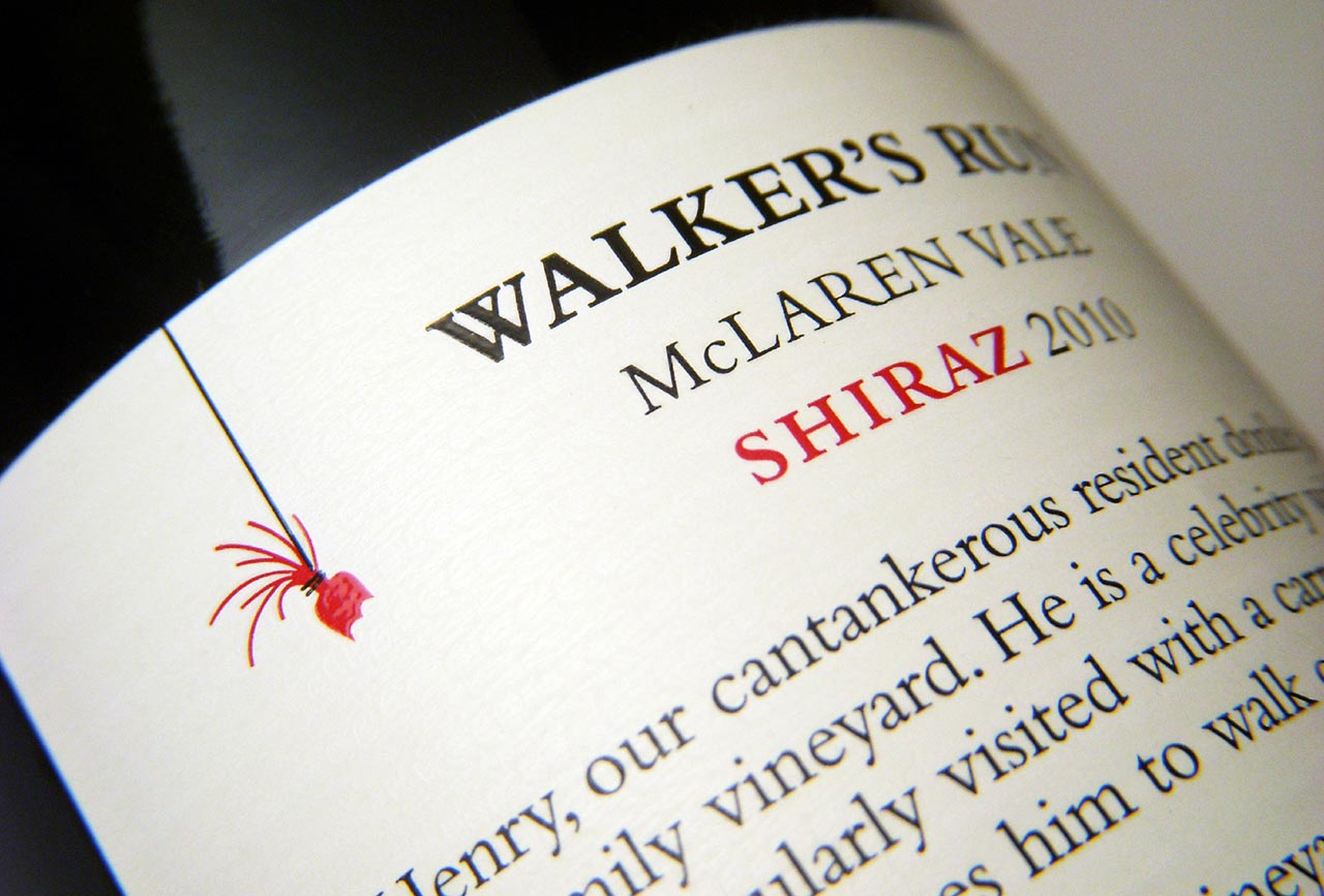 Walker's Run Wines back label