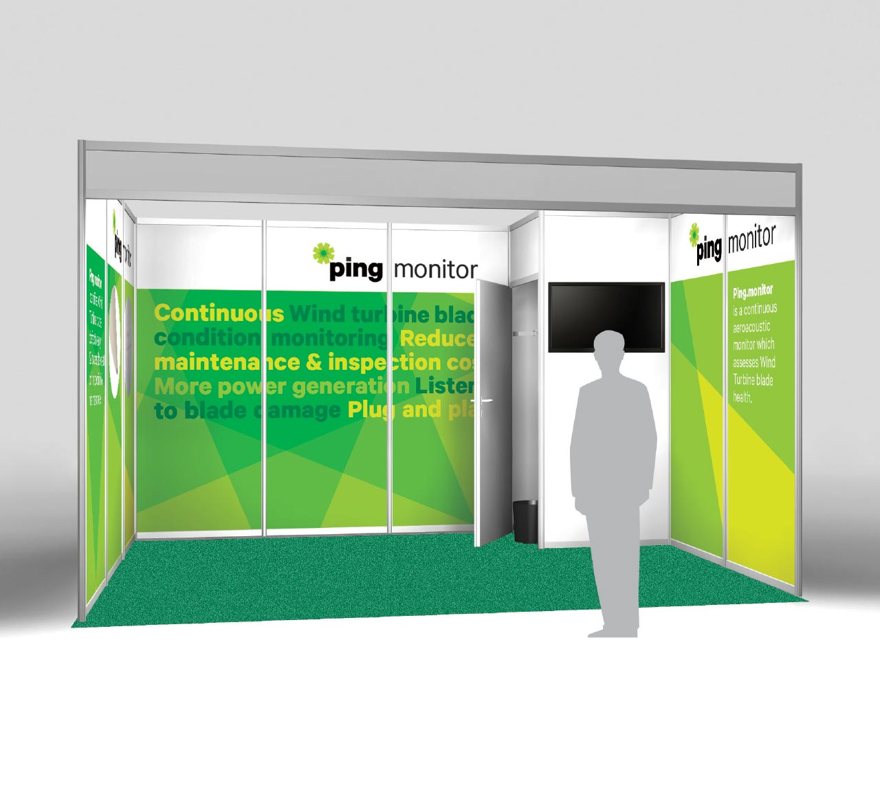 Ping Services conference stand