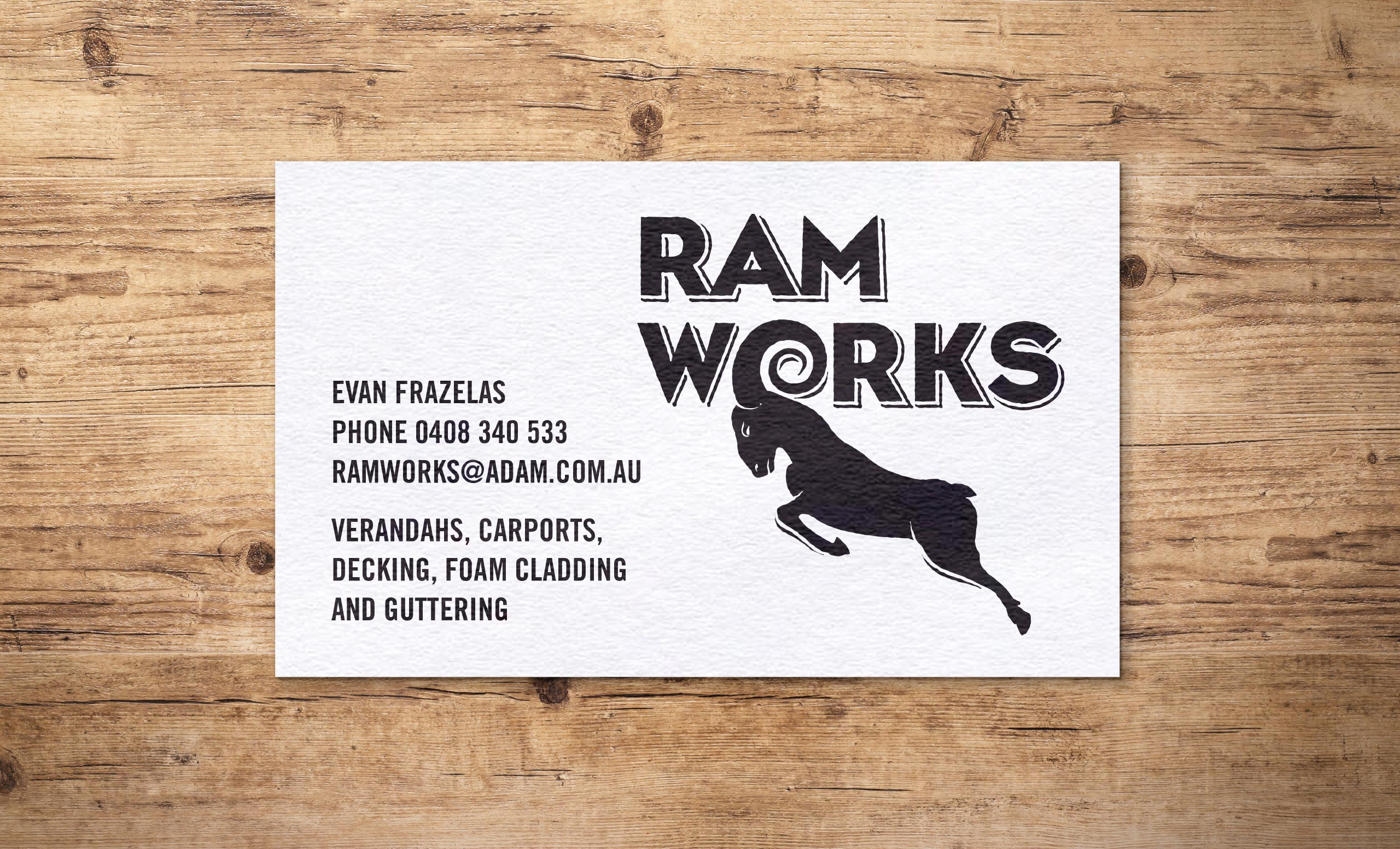 Ram Works business card